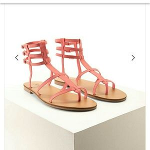 Forever 21 Gladiator Strappy Sandals Coral